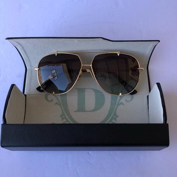 76040fc40c9 Dita Gold Frame Brown Lense Sunglasses